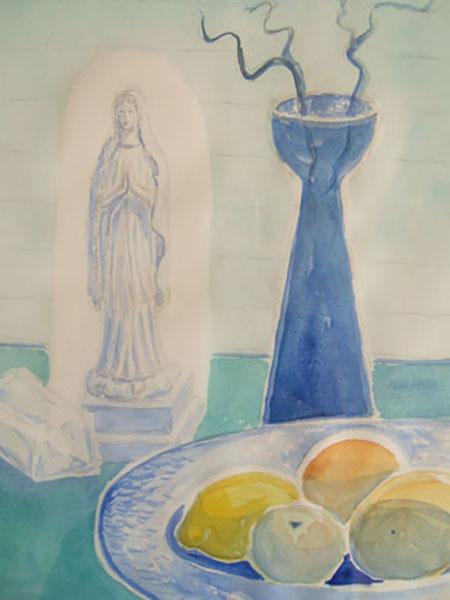 Jomfru Maria, akvarel