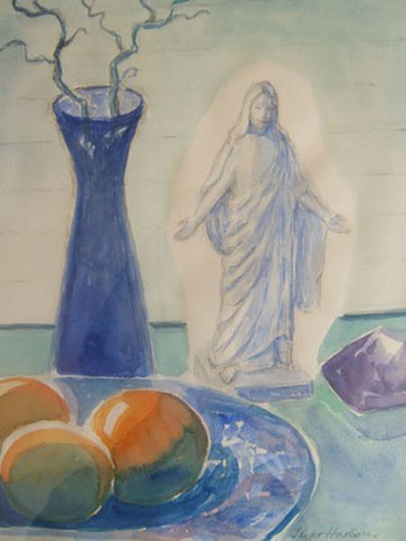 Thorvaldsens Jesus, akvarel