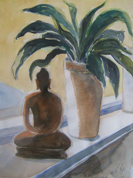 Buddha, akvarel